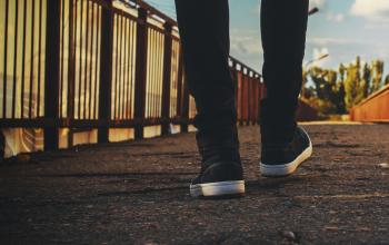 Picture of walking feet